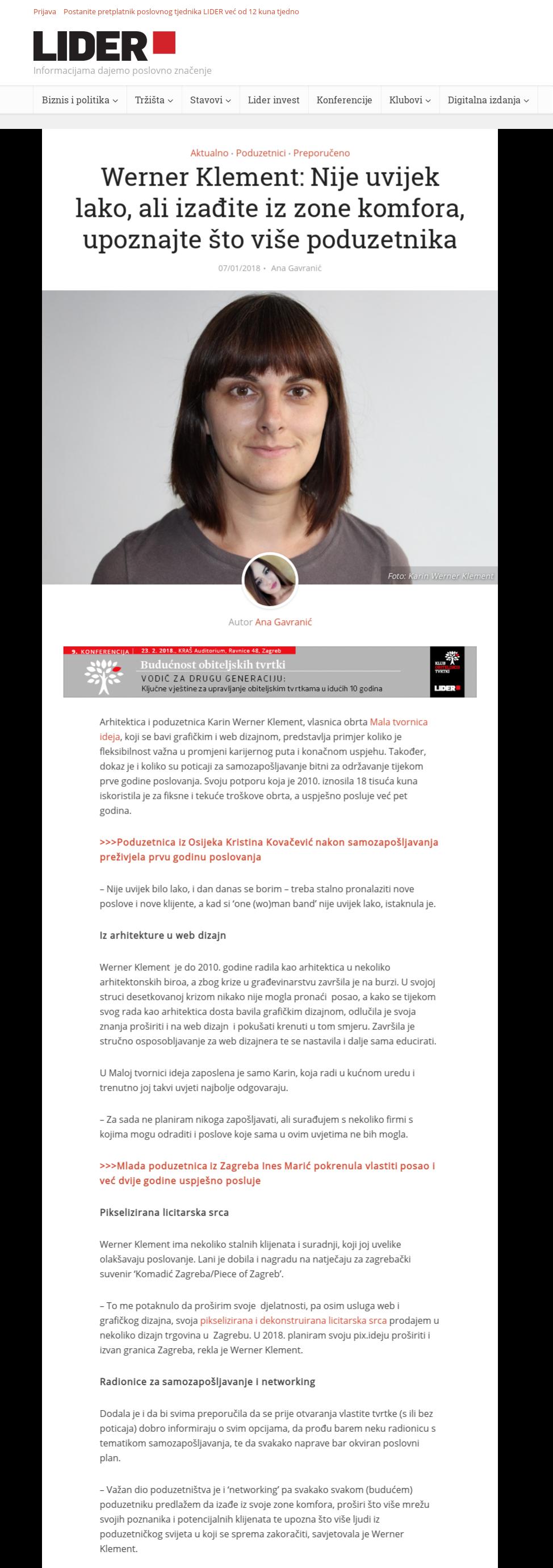 Karin Werner Klement - lider.media